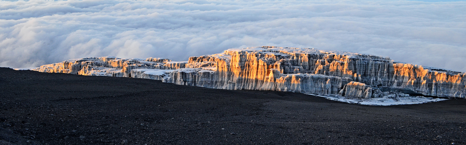 Sunrise on Icefields of Kilimanjaro