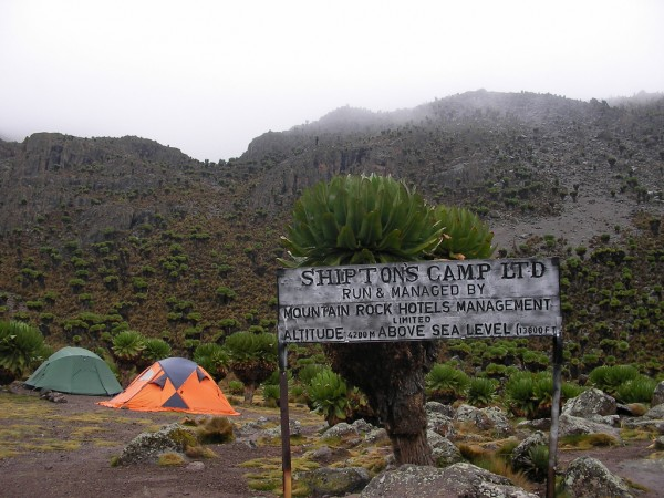 Shiptons camp in Mount Kenya National Park