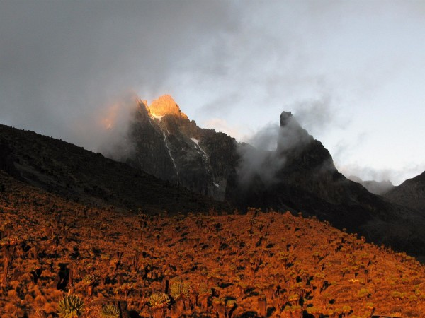 Sunset on Mount Kenya