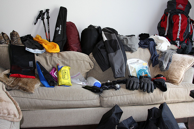 Organizing the Gear for Kilimanjaro