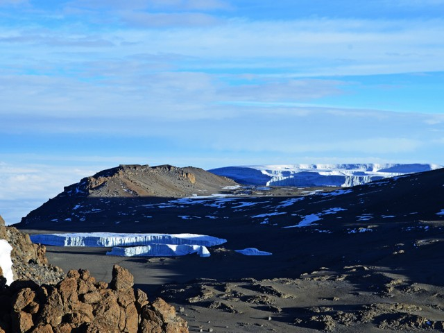 Summit of Kilimanjaro during the Long Dry