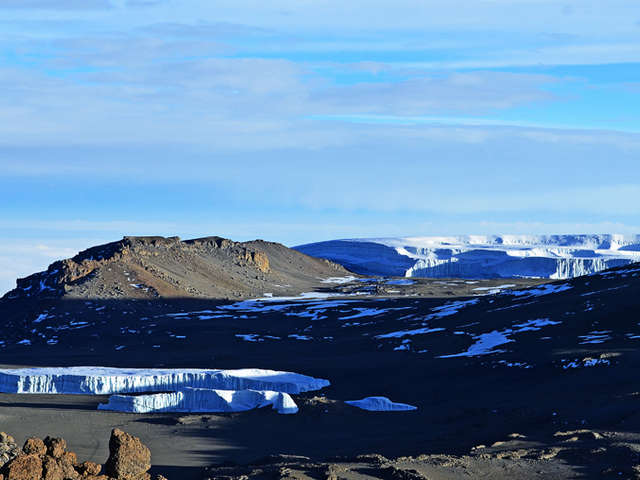 Summit View Of Ice Fields Kilimanjaro