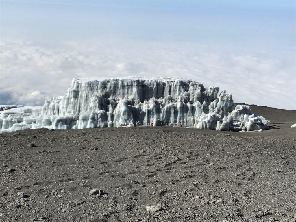 Glacier Next to Uhuru Peak