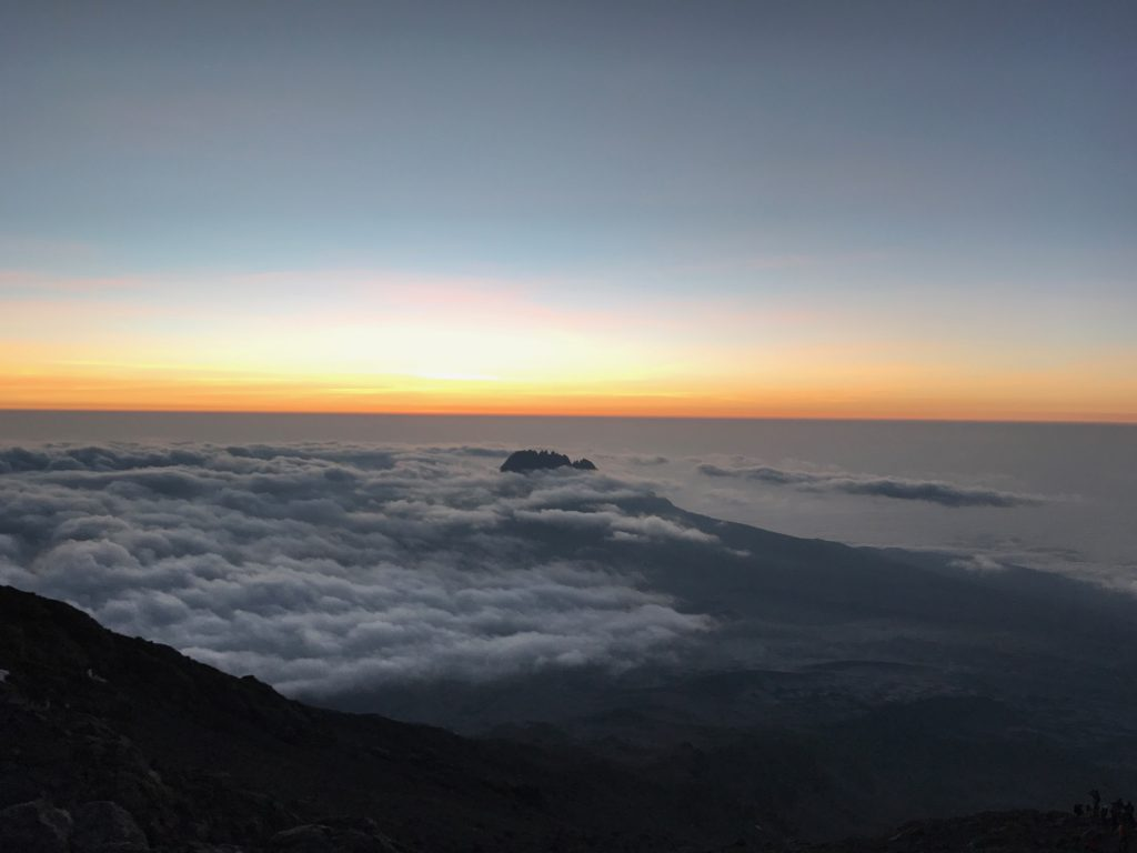 Sunrise while climbing to Stella Point