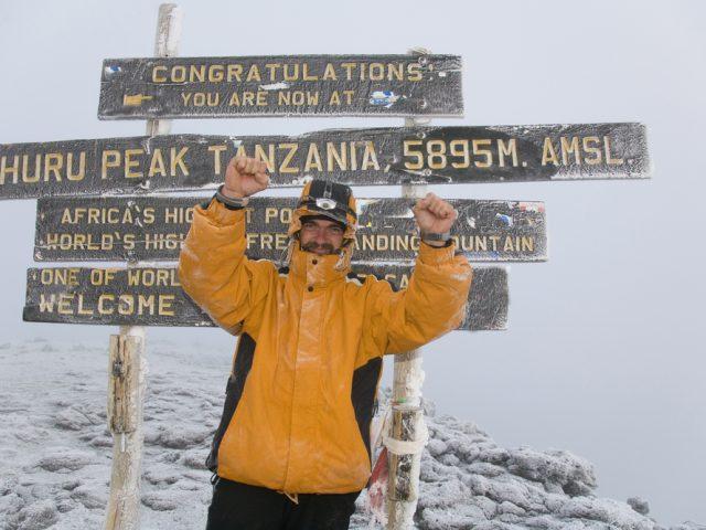 Enjoying the summit