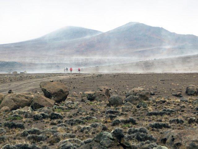 Volcanic slopes along Marangu route