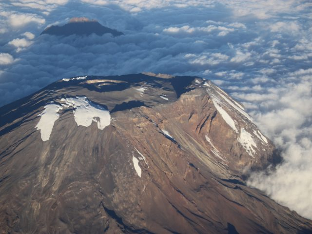 Summit of Kilimanjaro from the Air